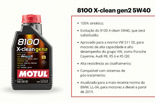 O 8100 x-clean é um dos óleos para motor 100% sintéticos da Motul